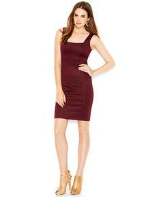Bar III Sleeveless Square-Neck Sheath Dress - Dresses - Women - Macy's