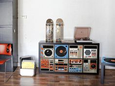 Top Picks for Tweens and Teens  DJ equipment is expensive, but your teen's dream of having two turntables and a microphone just got a little more realistic thanks to these furniture decals. Young music fanatics could store CDs or a record collection inside the drawers, but even if it's just socks and sweaters, they'll earn serious cred from the outside. Photo courtesy of Mykea