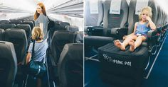 Giving kids the ultimate upgrade in comfort, Plane Pal is changing the way your family travels! An resourceful design, the inflatable Plane Pal ottoman is