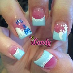uhmmmm.. who has time to get their nails done when they have a baby? lol