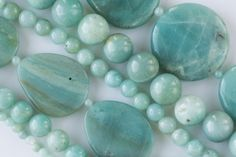 Amazonite is a beautiful green and blue stone with light white striations. The green color results from copper infusing with crystals while it is formed. This microcline feldspar can be found in the United States, Brazil, Zimbabwe, Russia, Australia, Namibia, Madagascar, and China. We transformed some beautiful rough from China into our 8 inch gemstone line. Amazonite has been known to instill a sense of power, courage and self-worth. It can help one access their creative expression.