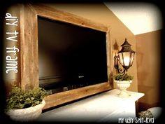 My Ugly Split-level: DIY Barn Wood TV Frame