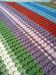 Corner Start Afghan, free pattern