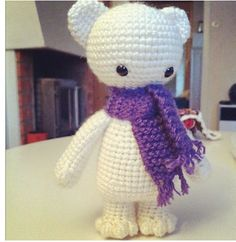 You will find this pattern, Isidor, on Ravelry http://www.ravelry.com/patterns/library/isidor-the-polar-bear amigurumi