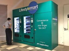 Vending machine stocked with NS essentials near Pasir Ris MRT -- but it only accepts EZ-Link cards
