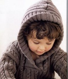 Baby Knitting Patterns Free Knitting Pattern And Tutorial Baby Knitting Patterns, Knitting For Kids, Baby Patterns, Free Knitting, Creative Knitting, Knitting Needles, Knit Baby Sweaters, Boys Sweaters, Cable Sweater