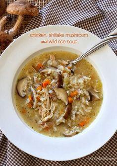 It's soup season! | chicken, shiitake mushroom & wild rice soup