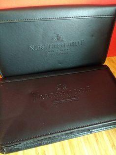 Pair of Northern Belle Orient Express Travel Wallets. Ticket Holders, Orient Express, Travel Souvenirs, Bond Street, Agatha Christie, Zip Wallet, Vintage Black, Wallets, Black Leather