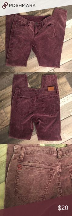 🆕BDG Pants Super cute, super soft, raspberry color washed, corduroy, size 27, in like new condition Urban Outfitters Pants Ankle & Cropped