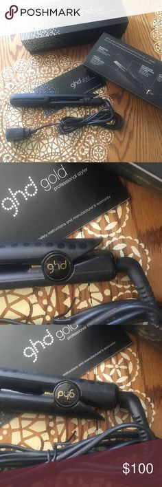 """GHD Gold Professional 1"""" Flat Iron GHD Professional Flat Iron Hair Straightener - used, But in great condition and works like new, just upgraded to a new iron. Gives you the most perfect silky smooth hair ❤️❤️❤️ GHD Other"""