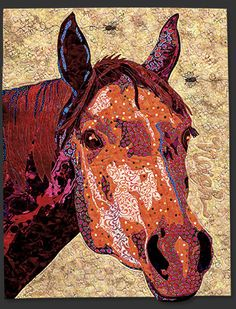 Horse block, in the Farm Quilt by Bonnie Keller. BOM at American Quilter's Society