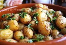 Молодая картошка в духовке Potato Salad, Cauliflower, Menu, Potatoes, Vegetables, Ethnic Recipes, Desserts, Food, Dessert