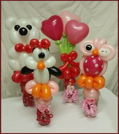 Valentines Day Designs! Say I LOVE YOU with a balloon and chocolate