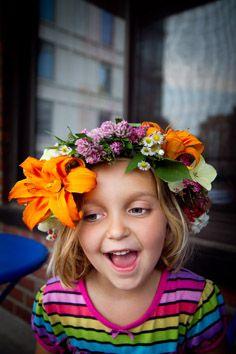 Swedish summer solstice flower wreath tutorial