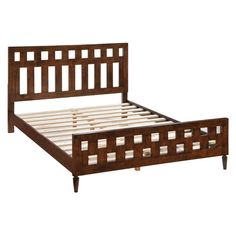 Zuo 800303 LA Queen Bed Walnut