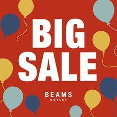 70%OFFも!<BEAMS OUTLET>BIG SALE 開催|BEAMS Sale Banner, Web Banner, Type Posters, For Sale Sign, Sale Poster, Graphic Design Inspiration, Banner Design, Event Design, Design Elements