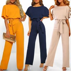 Women Cotton Bandage Jumpsuit Summer Fashion Short Sleeve Playsuits Clubwear Straight Leg With Belt Overalls Bodycon Ladies Formal Jumpsuit, Short Jumpsuit, Rompers Women, Jumpsuits For Women, Body Suit With Shorts, Playsuits, Clubwear, Sleeves, Style Fashion