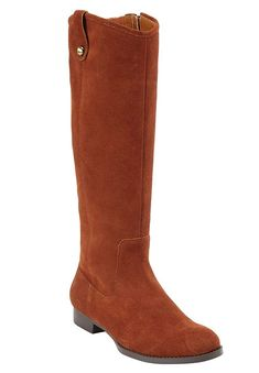 Comfortview Plus Size Paxton Tall Calf Boots *** Sincerely hope that you actually do enjoy the image. (This is an affiliate link) Calf Boots, Knee High Boots, Plus Size Outfits, Plus Size Women, Riding Boots, Suede Boots, Lady, Size Clothing, My Style