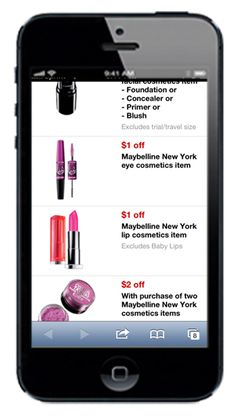 efefdf5c878 New Maybelline New York Target Mobile Coupons---Save on Mascara and Eye  Shadow