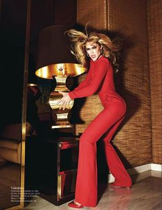 Doutzen Kroes wears Valentino in the August 2012 issue of Vogue Paris. Shot by Mario Sorrenti.