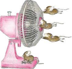 Des souris dans le vent! Hihihi...