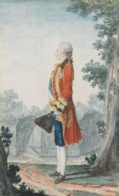 Louis-Philippe-Joseph, duc de Chartres (1747-1793), later duc d'Orleans and future Philippe-Egalite, circa 1770 by Louis Carrogis dit Carmontelle (1717-1806)