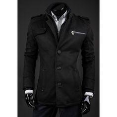 e1c91347e3 Pánsky zimný kabát čiernej farby - fashionday.eu