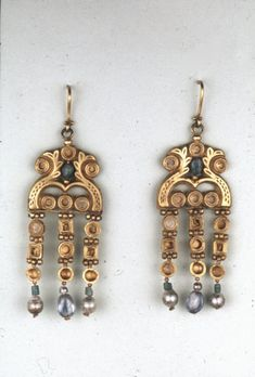 Earrings Early Byzantine AD 600 Found in Asyut, Egypt (Source: The British Museum)