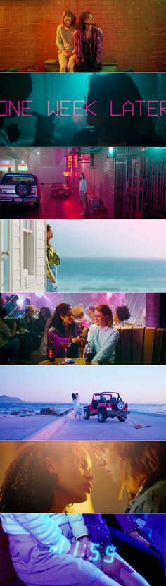 Watched july 2017 - San Junipero: So you've been just… totally fucking inconvenient. Cinematic Photography, Film Photography, Black Mirror San Junipero, Series Quotes, Cinema Colours, Color In Film, Movie Shots, Film Inspiration, Film Serie