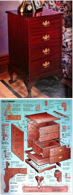 Queen Anne File Cabinet Plans - Furniture Plans and Projects | WoodArchivist.com