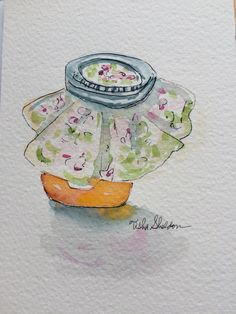 Pen and ink and watercolor by Tisha Sheldon