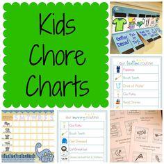 KIDS CHORE CHARTS!!!
