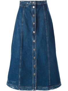 You'll find a great selection of designer A-line skirts at Farfetch. Search from over 2000 designers for your perfect designer A line skirt A Line Denim Skirt, A Line Skirts, Denim Skirts, Tall Girl Fashion, Modest Fashion, Man Skirt, Dress Skirt, Modest Outfits, Skirt Outfits
