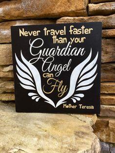 mother teresa, guardian angel, inspirational sign, mother teresa quote, harley davidson, motorcycle sign, wall decor, christian sign