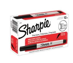 Amazon.com: Sharpie 37001 Ultra Fine Point Permanent Markers, Black (Box of 12): Office Products