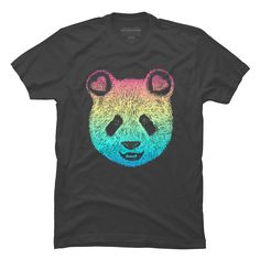 Rainbow Panda Men's T-Shirt