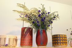 Kat & Roger ceramics, Lili Cuzor florals. ERMIE x Weltenbuerger Pop Up Arts ReSTORE L.A. Opening party 11/2/13. Photo: Ava Alamshah