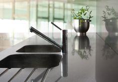 Silestone integrated sink Fregadero due Carbono