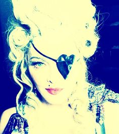 Madonna Wears a Grill, Eye-Patch, Marie Antoinette Wig and No Pants to Celebrate 55th Birthday
