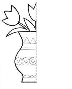 Animal Symmetry Activity Coloring Pages Symmetry Worksheets, Symmetry Activities, Art Worksheets, Preschool Worksheets, Preschool Crafts, Preschool Activities, Kids Crafts, Preschool Coloring Pages, Coloring Pages For Kids