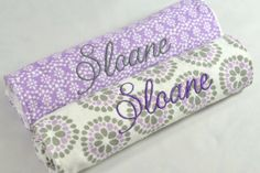Personalized Burp Cloths Baby Girl  by AndreaLynnHandmade on Etsy, $35.00