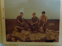 """My father and some of his Vietnam War buddies.  He's on the far right with his shirt off.  My dad is the Veteran writer of Beneath the Bamboo: A Vietnam War Story.  Learn more here: http://www.jonathon-jones.com/beneaththebamboo.html    Keywords: vietnamwar veterans vietnamvets vets military soldiers 1stcav 1stcavalry firstcavalry firstcav army soldiers military militaryphotos 60s 1960s """"vietnam war"""""""