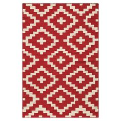 I pinned this Ailen Rug in Red from the Year's Best Patterns event at Joss and Main!
