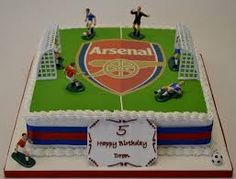 Image result for arsenal football cakes