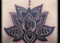 illustration tatouage fleur de lotus