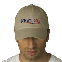 NEWT Gingrich 2012 Embroidered Baseball Cap