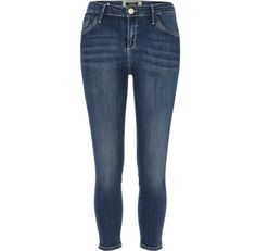 I'm shopping Mid wash Amelie superskinny capri jeans in the River Island iPhone app.