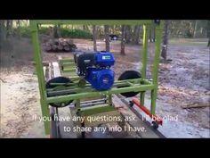 Homemade Bandsaw Mill walk-around - YouTube