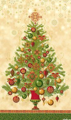 Winter's Grandeur 2 - Ornamental Tree - Quilt Fabrics from www.eQuilter.com