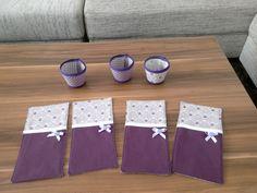 Bestecktaschen (Idee www.modage.de) + Teelichter (Idee Farbenmix)